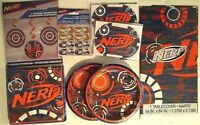 NERF - Birthday Party Supply Kit w/ PLates,Napkins & Table Cover