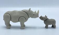 Playmobil 7989 Adult Rhino and Calf