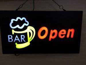 NEW 12V LED Neon BAR OPEN BEER MUG Bright Neon Sign for Business Shop 48cm*24cm