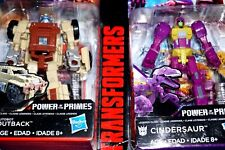 TRANSFORMERS POWER OF THE PRIMES CINDERSAUR & OUTBACK HASBRO 2017 ACTION FIGURES
