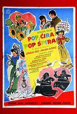 POP CIRA POP SPIRA SOJA JOVANOVIC COMEDY 1957 SIGNED MOVIE POSTER+INSERT SERBIA