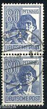 All. Besetzung 80 Pfg. Arbeiter 1947 Plattenfehler geprüft (S7865)