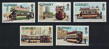 Guernsey Trams 5v MNH SG#588-592