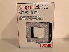 SUNPAK LED 102 VIDEO LIGHT FOR HDSLR CAMERA OR CAMCORDER BRAND NEW IN BOX!