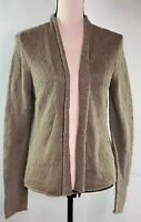 Eileen Fisher Women's Size Small Open Front Brown Cardigan Sweater 3074