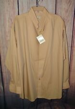 Stubbs Western Wear Long Sleeve Shirt NWT Golden Pond Collar No Buttons Size XL