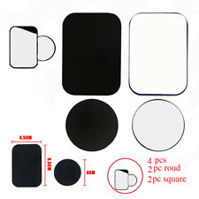 4-Pcs Metal Plates Adhesive Sticker Replace For Magnetic Car Mount iPhone Holder