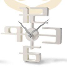 Wanduhr 3 D Design 42,5 cm Modern 1107 weiß