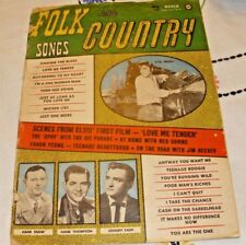 Folk and Country Songs Magazine March 1957 Elvis 1st Film Love Me Tender