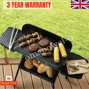 Tower Electric Indoor Outdoor Smokeless Party BBQ Barbeque Portable Grill 2200W