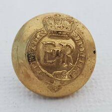 1952- Elizabeth II Colonels & brigadiers button 14mm gilt brass