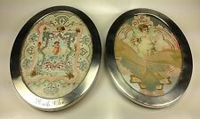 Antique Watson  Co Two Sterling Silver Oval Photo Frames 2717-99