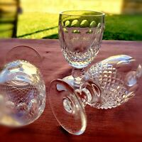 Exquisite Waterford Crystal Short Stem CLARET Wine Glasses COLLEEN Style