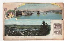 USA, Portland Harbor, Devers Golden West Advertising Postcard, B259