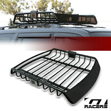 Universal Blk Roof Rack Cage Basket Travel Luggage Holder Top Tray W/Fairing G28