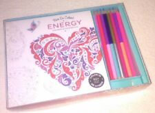 Energy Book with Pencils Adult Coloring Book De-Stress 90+ Tear Out Pages
