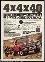 1979 DODGE PICKUP advertisement, Dodge 4x4 pick-up, pulling trailer