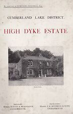 """Nr Cockermouth """"High Dyke"""" Estate brochure. 'For Sale' in 1924"""