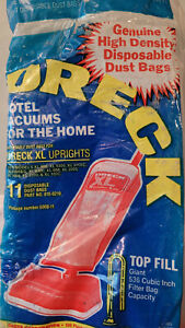 10 NEW GENUINE ORECK XL TOP FILL UPRIGHT VACUUM CLEANER DUST BAGS # 8000-11
