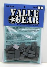 1/48 Universal Tent Tarp & Crate Set #1 - Value Gear Resin Stowage (27 Pieces)