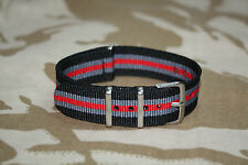 Cinturino militare Orologio 22 mm nato army style watch strap nylon band vintage