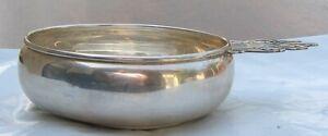 Amston Sterling Silver Large Porringer Handled Child's Bowl No Mono
