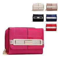 Ladies Designer Faux Leather Style Purse Patent Clutch Wallet Handbag 095-188
