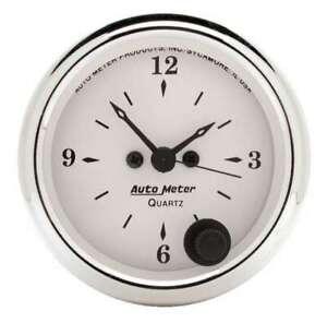 AUTO METER Old Tyme White 2 1/16in Quartz Clock P/N - 1686