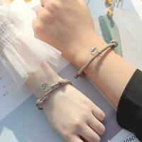 2 Stück / Set Paar Armband für Mädchen Junge Geflochtene Armband Schnur B1B3