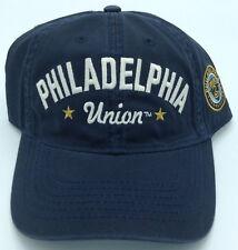 Mls Philadelphia Union Adidas Slouch Leather Strap Buckle Back Cap # Ex76Z New!