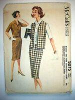 1960's Overblouse slim skirt & jacket women's  pattern 5975 size 14