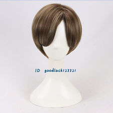 Leon Styled Short Cosplay Wig +a wig cap