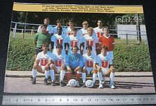 CLIPPING POSTER FOOTBALL 1985-1986 D2 SCO ANGERS JEAN-BOUIN