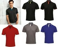 Mens Polo Shirt Golf Polo Shirt Polyester Moisture Wicking Fabric Premier PR618