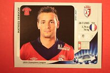 PANINI CHAMPIONS LEAGUE 2012/13 N. 415 DEBUCHY LILLE BLACK BACK MINT!