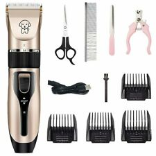 Professional Pet Dog Grooming Clipper Kit Thick Fur Electric Trimmer Shaver