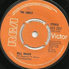 THE SWEET - HELL RAISER / BURNING - RCA - 1973 - ORIGINAL 70s GLAM ROCK POP