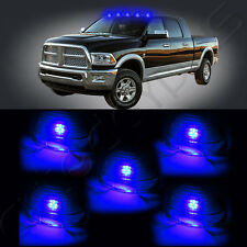 5x Roof Running Smoke Cab Marker Cover+ 5x Free Blue T10 LED Lights For Truck