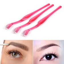 3pcs Eyebrow Lip Razor Trimmer Blade Shaver Knife Hair Remover Facial Makeup UK