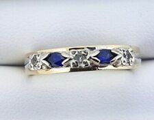 9K Sapphire and Diamond Dress RING_375 gold