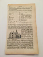 K66) View of Cathedral at Milan Italy Architecture History 1842 Engraving