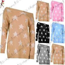 Damen-Pullover aus Acryl und Sterne