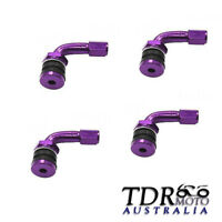 Purple 4x 90 Degree Angle Valve Adaptor Tyre Extension Adapter Motorcycle Car Bi