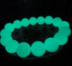 16mm Glow In The Dark Round Beads Bracelet Men And Women Jewelry
