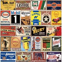 DL-Last stop gasoline full service Metal Tin Sign for the Man Cave//Garage