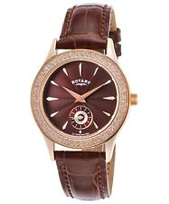 Rotary Women's Brown Dial and Brown Leather Band Quartz Watch LS02907/16