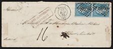 1865 - FRANCIA BUSTA INSUFFICIENTE PER L'AUSTRIA CON NAPOLEONE 20C. COPPIA