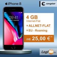 Apple iPhone 8 64GB Handy mit congstar Vertrag 4GB Allnet Flat inkl. 25,00€ mtl.