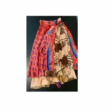 Silk saree Wrap around skirt, 27
