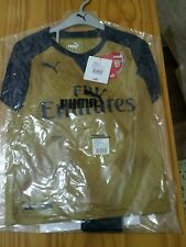 Authentic Puma Arsenal away gold football kit for boys 5-6 years BNWT 2015-2016